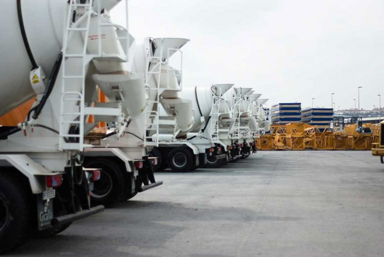 Drum Mixers Lined & Ready to deliver cement